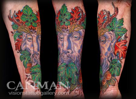 Canman - Greenman Tattoo
