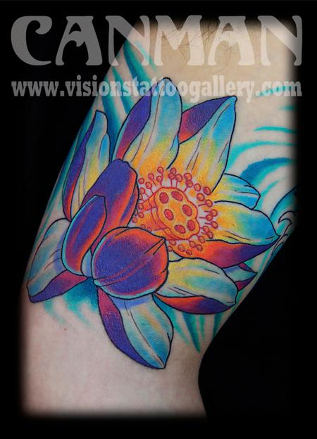 japanese lotus flower Tattoo Design Thumbnail