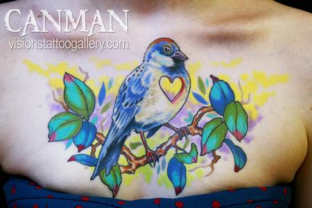 Tattoos - Blue bird - 63602