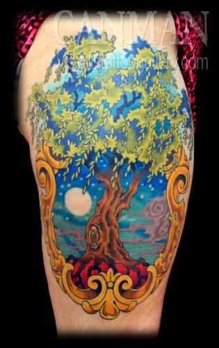 willow tree Tattoo Design Thumbnail