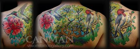 Tattoos - birds and tree - 67263