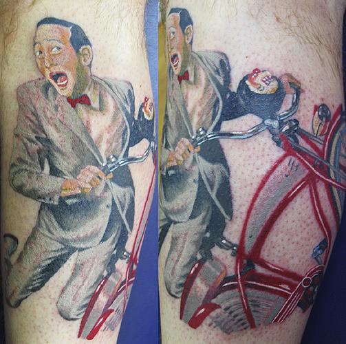 Peewee herman by canman tattoonow