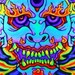 Tattoos - tibetan demon blacklight painting - 48344