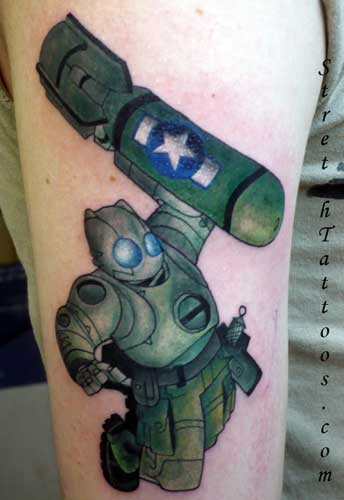Stretch - Robot Tattoo