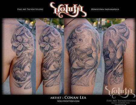 Tattoos - Deep Lotus Tattoo - 75879