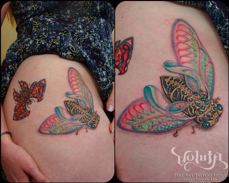 Tattoos - Art Nouveau Locust - 75875