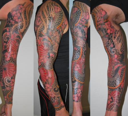 Japanese Dragon Sleeve Tattoo Tattoo Design