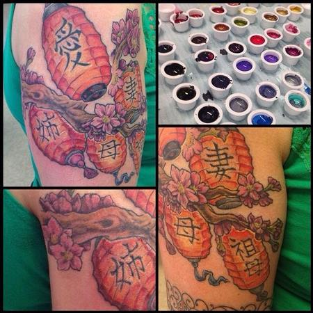 Tattoos - Japanese Lanterns - 102360
