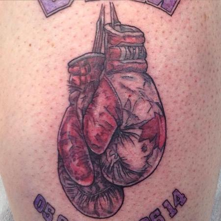 Boxing Gloves Tattoo Design Thumbnail
