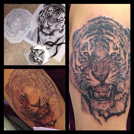 Tiger Progress Tattoo Design Thumbnail