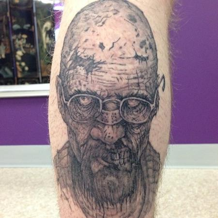 Zombie Heisenburg Tattoo Design Thumbnail