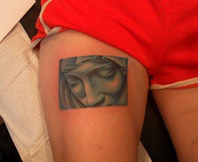 Tattoos - Madonna Statue - 64648