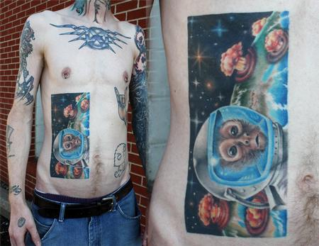 Tattoos - space monkey - 70543