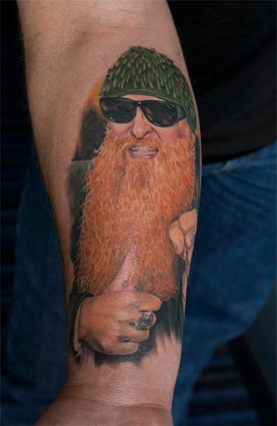 Billy Gibbons Tattoo Design