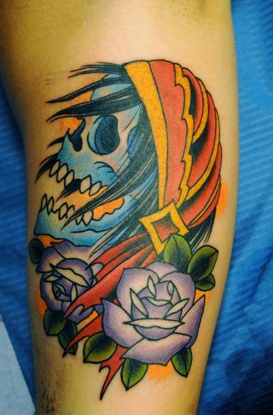 Traditional Skull Tattoo Tattoo Design