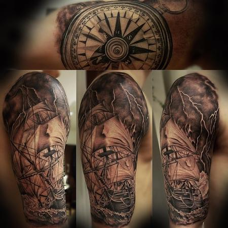 off the map tattoo nautical tattoos page 1. Black Bedroom Furniture Sets. Home Design Ideas