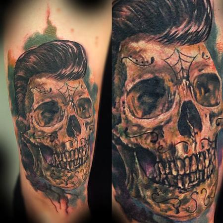 Tattoos - Rockabilly skull - 95549
