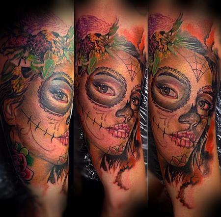 Tattoos - Custom Day of the Dead portrait - 95551