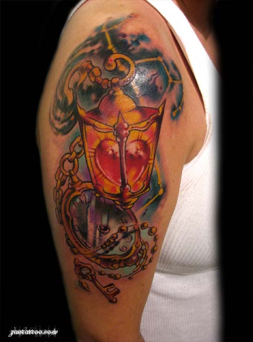 Heart Lantern Tattoo by Muriel Zao: Tattoo Inspiration ...