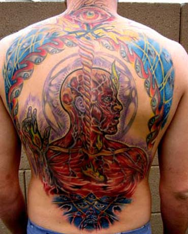 Muriel Zao - Alex Grey Tattoo