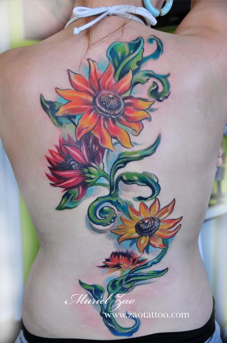 Muriel Zao - Sunflower Tattoo