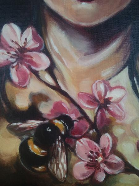 Muriel Zao - Bee with Flowers close up