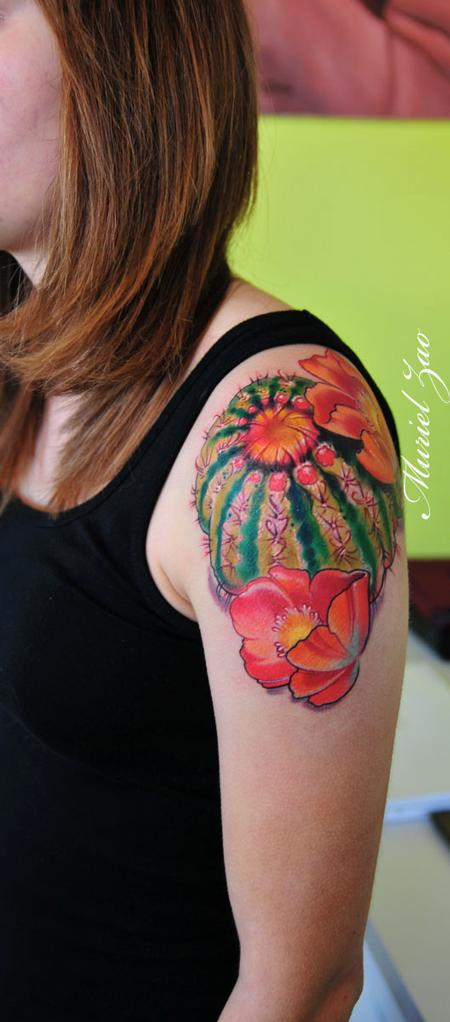 Muriel Zao - Barrel Cactus Tattoo