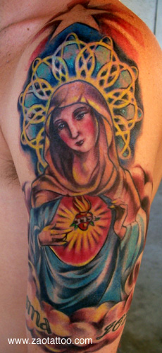 Looking for unique Muriel Zao Tattoos?  Virgin Mary Tattoo