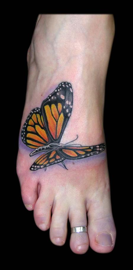 Monarch Butterfly Tattoo Design Thumbnail