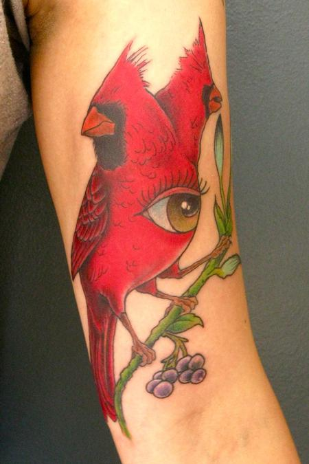 Cardinal Tattoo Design