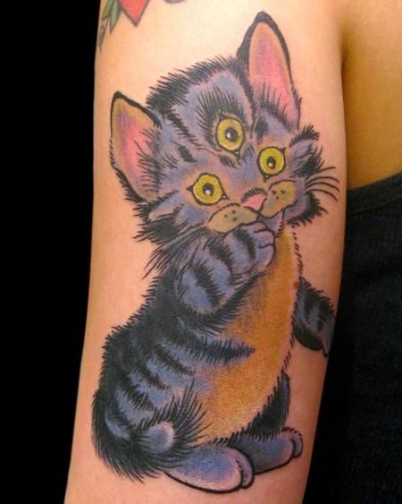 3 Eye Cat Tattoo Design Thumbnail