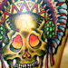 Tattoos - Skull and Headdress - 12748