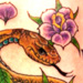Tattoos - Snake and Flowers - 16516