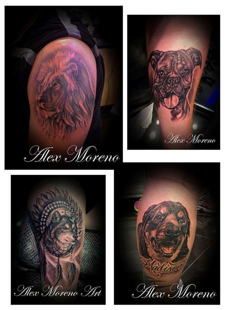 Tattoos - Black and Grey Wildlife Portraits 2 - 108127