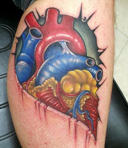 Tattoos - Half heart - 128846