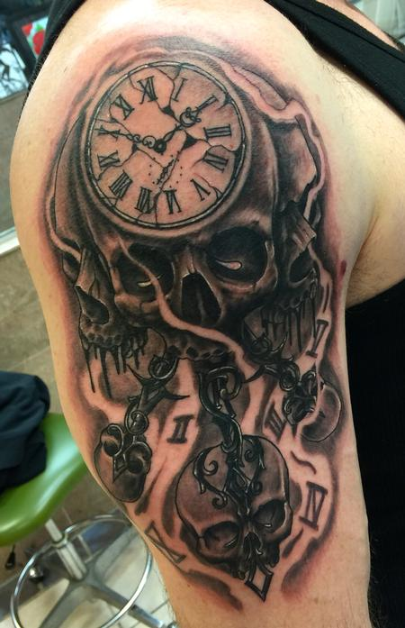 Tattoos - Skull time - 109103