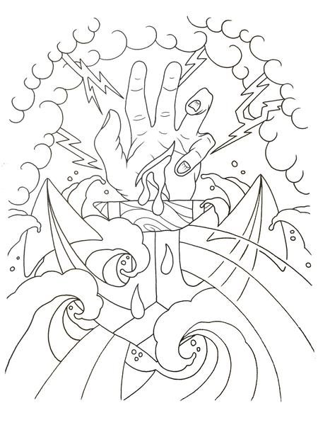 Tattoos - Line drawing - 108397