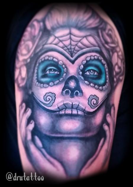 Tattoos - Sugar Skull Mask - 125675