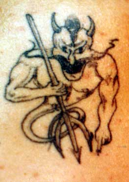 Really bad tattoo - Demon