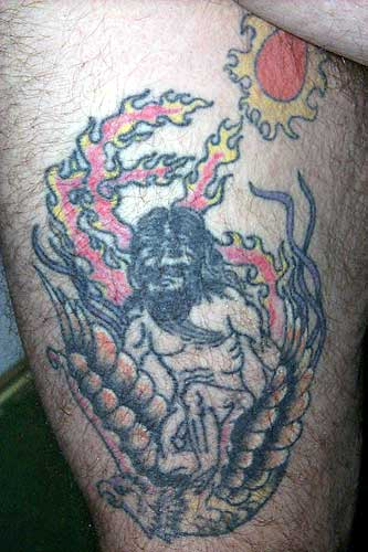 Bad Tattoos - Naked Guy On Bird