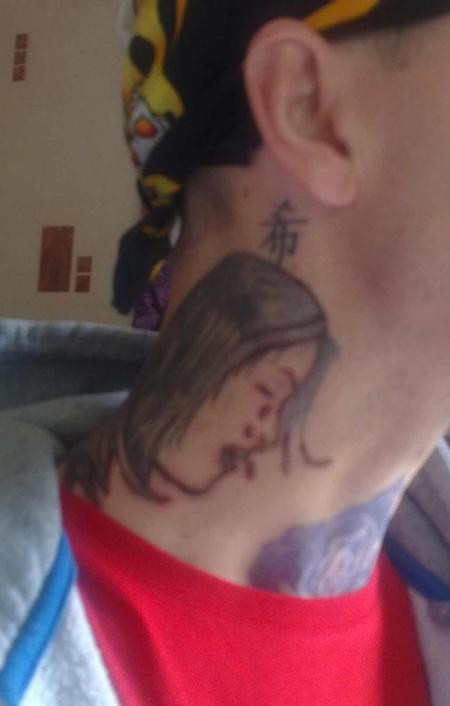 Tattoos - bad neck tattoo - 56072