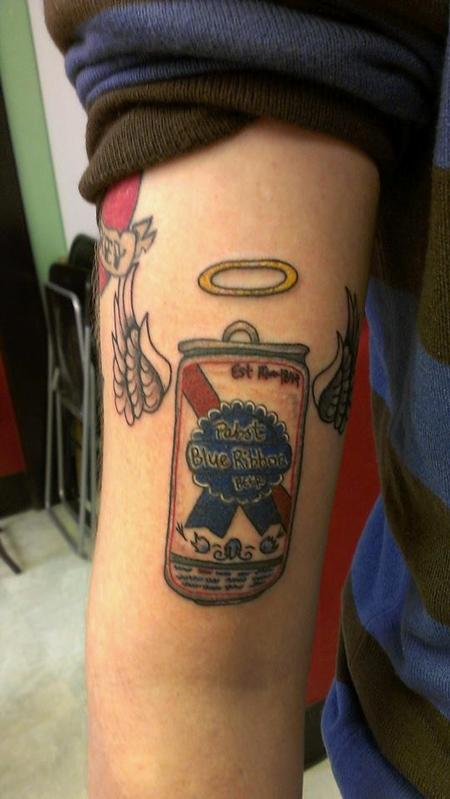 Bad Tattoos - Not so realistic Pabst Blue Ribbon Can