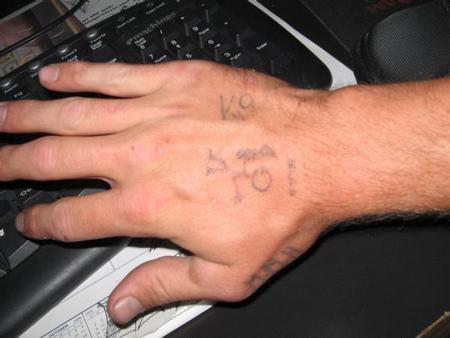stick figure hand tattoos
