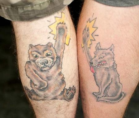 Tattoos - wolf tattoo - 57055