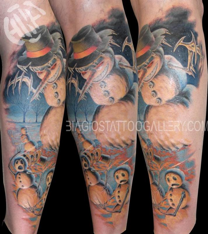 Tattoos - Terrorizing Snowman - 90094