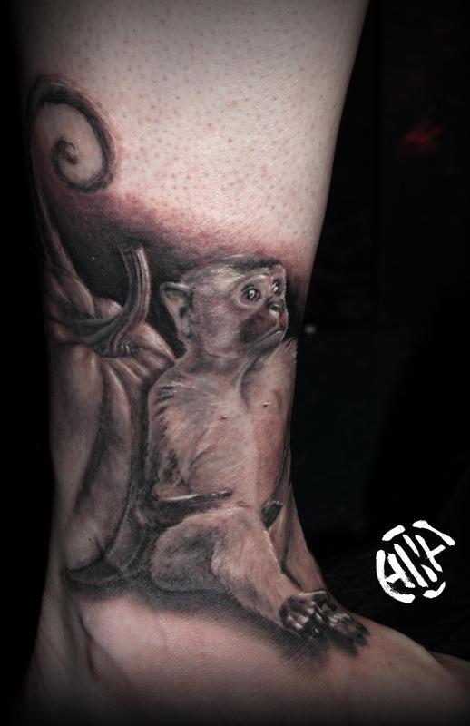 Tattoos - Monkey with Pumpkin - 131699