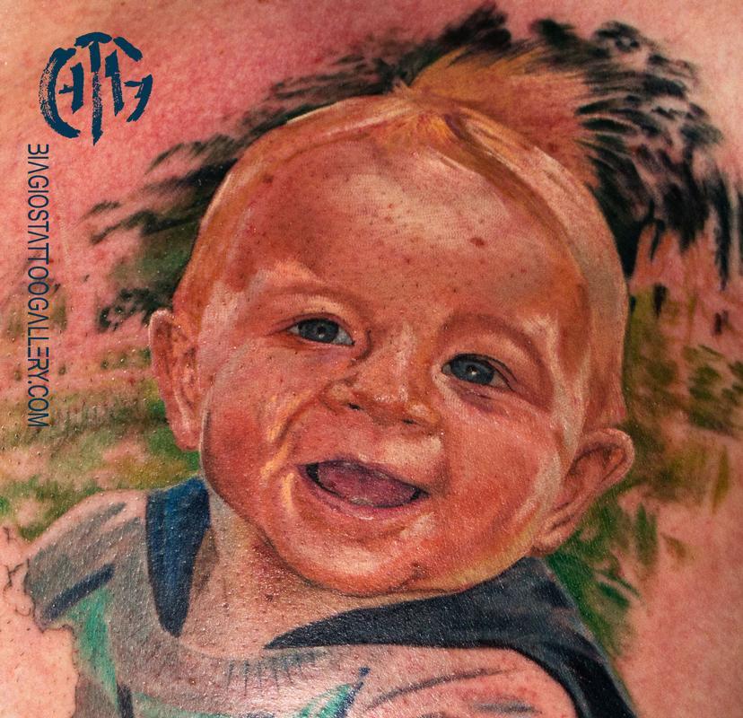 Tattoos - Tayler Baby Portrait - 133835
