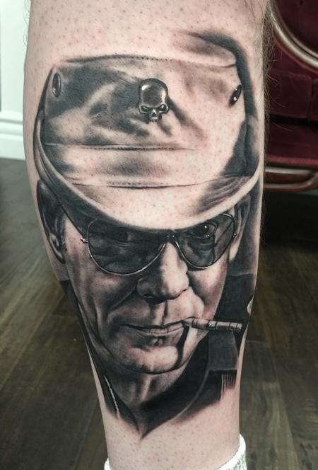 Bob Tyrrell - Hunter S Thompson Portrait Tattoo