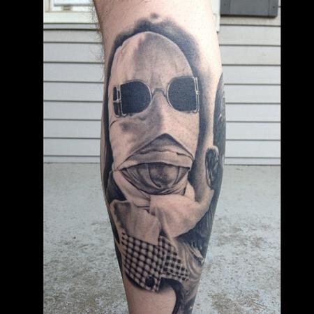 Bob Tyrrell - Invisible man tattoo