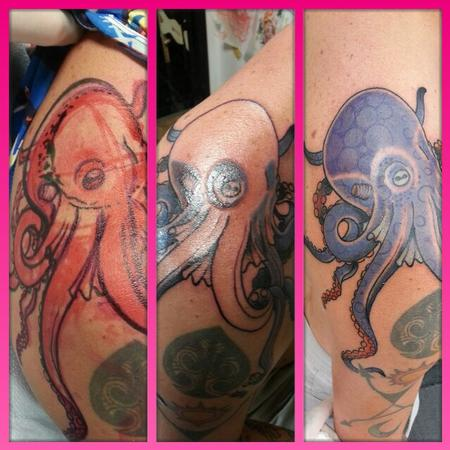 Tattoos - color octopus draw on tattoo  - 99234